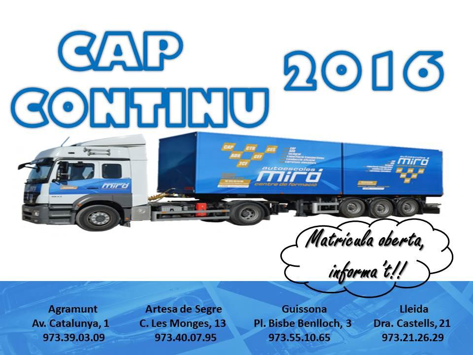 CAP CONTINU 2016