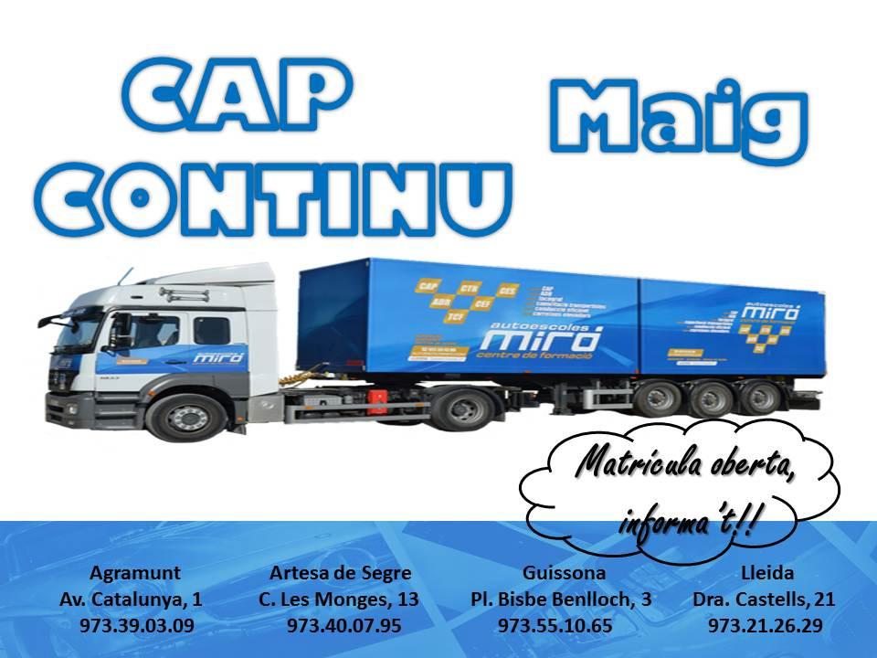 CAP CONTINU Maig