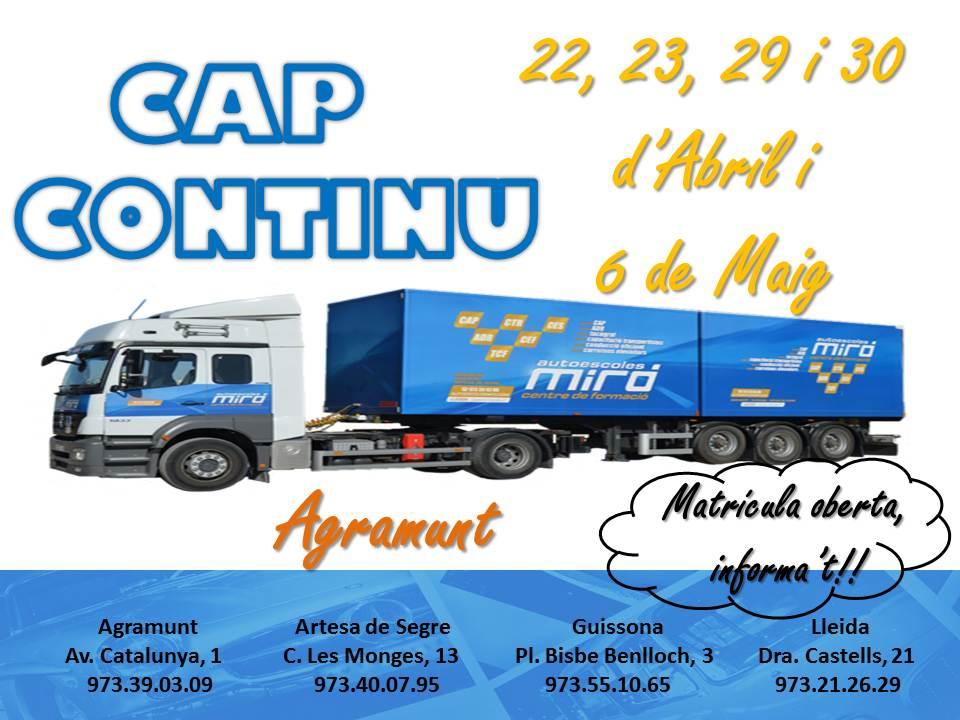 CAP CONTINU abril17 - agramunt