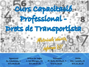 DRETS DE TRANSPORTISTA